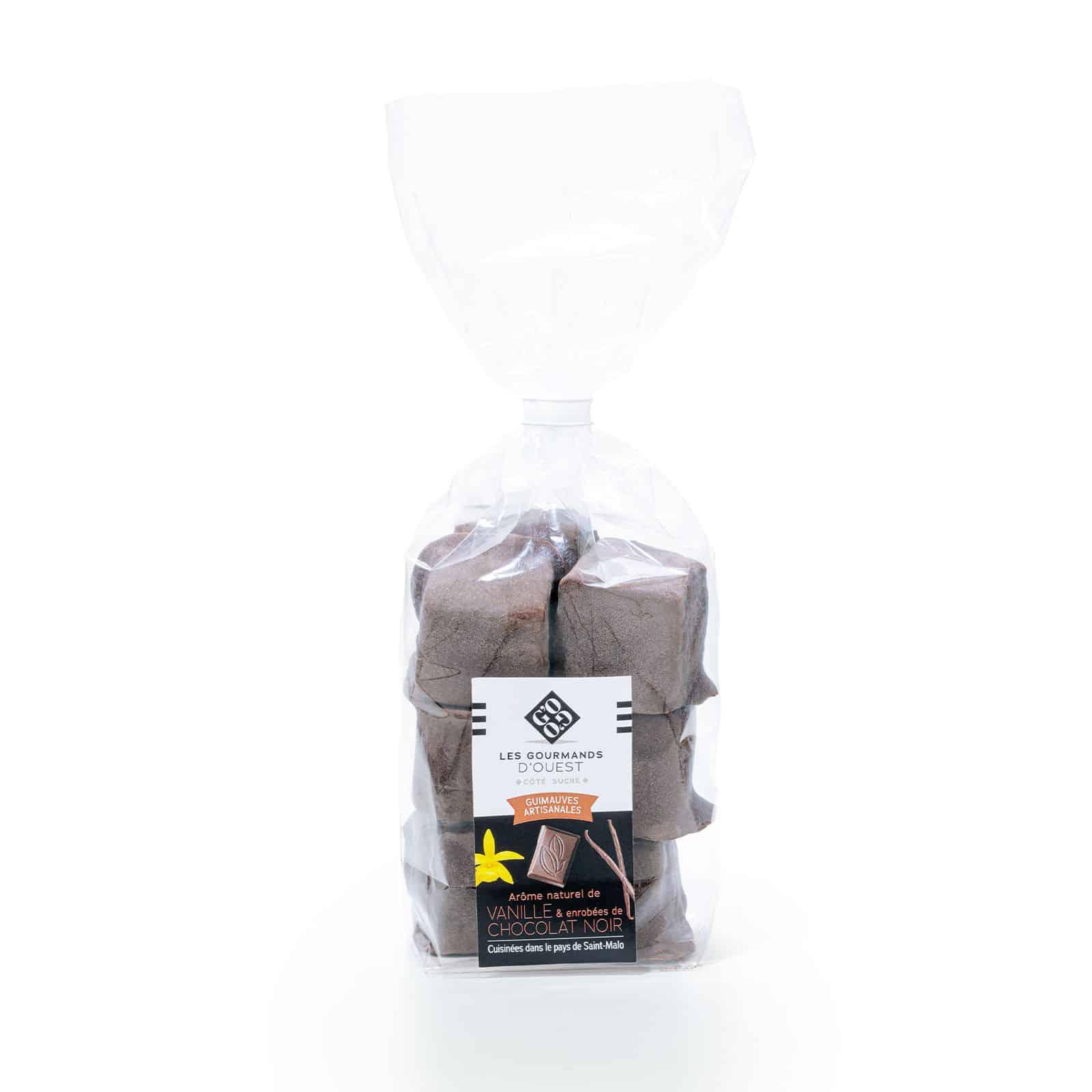 Guimauve vanille enrobée chocolat noir